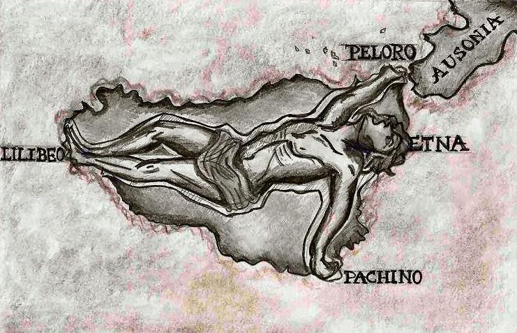 Tifeo, il mostruoso gigante che sorregge la Sicilia